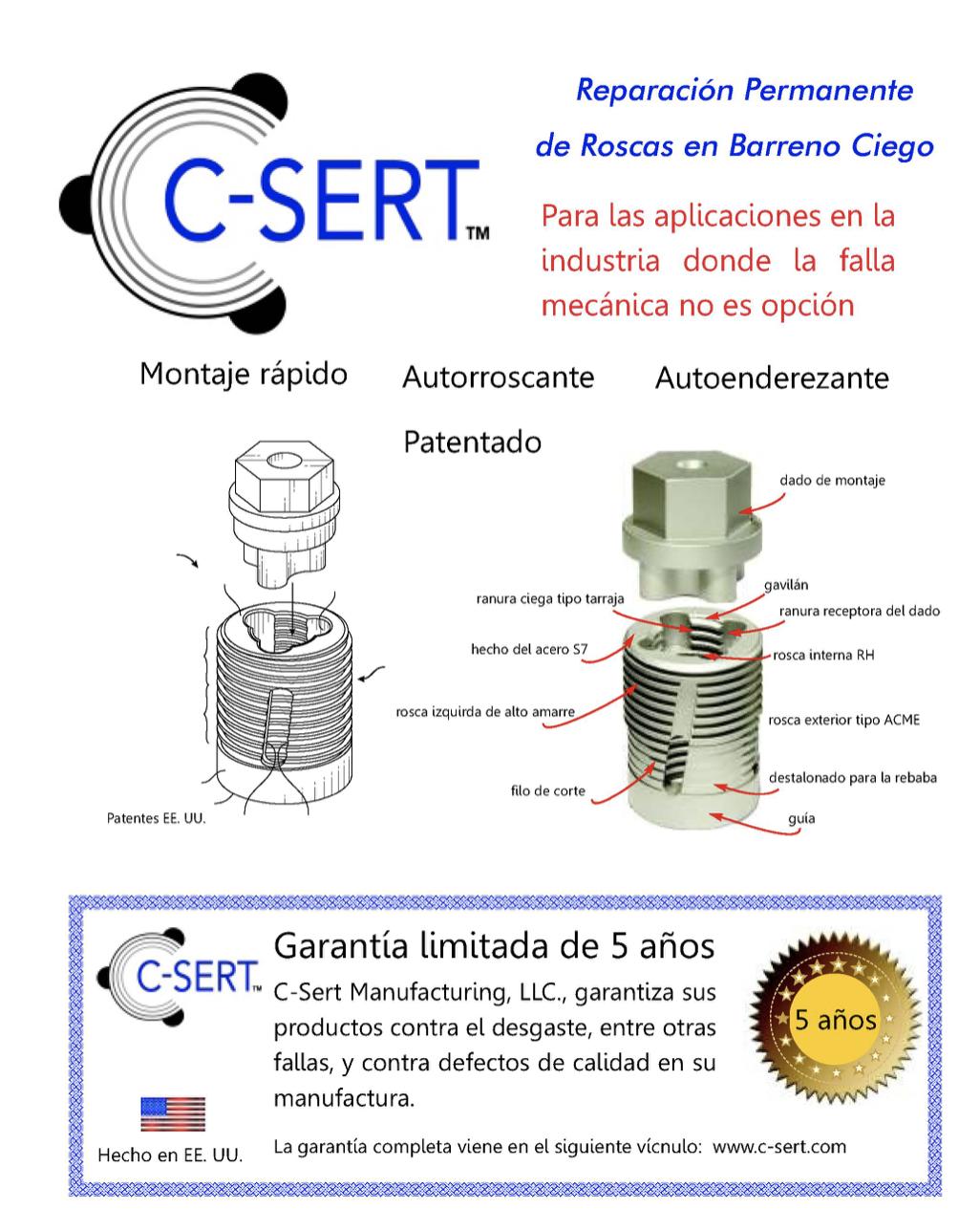 Garantia C-sert y especificaciones