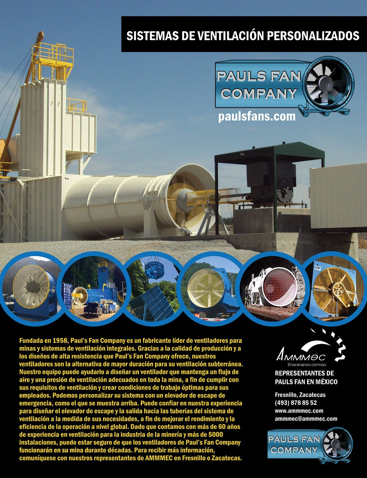 PAULSFAN-Sistemas de ventilation y capsulas de escape