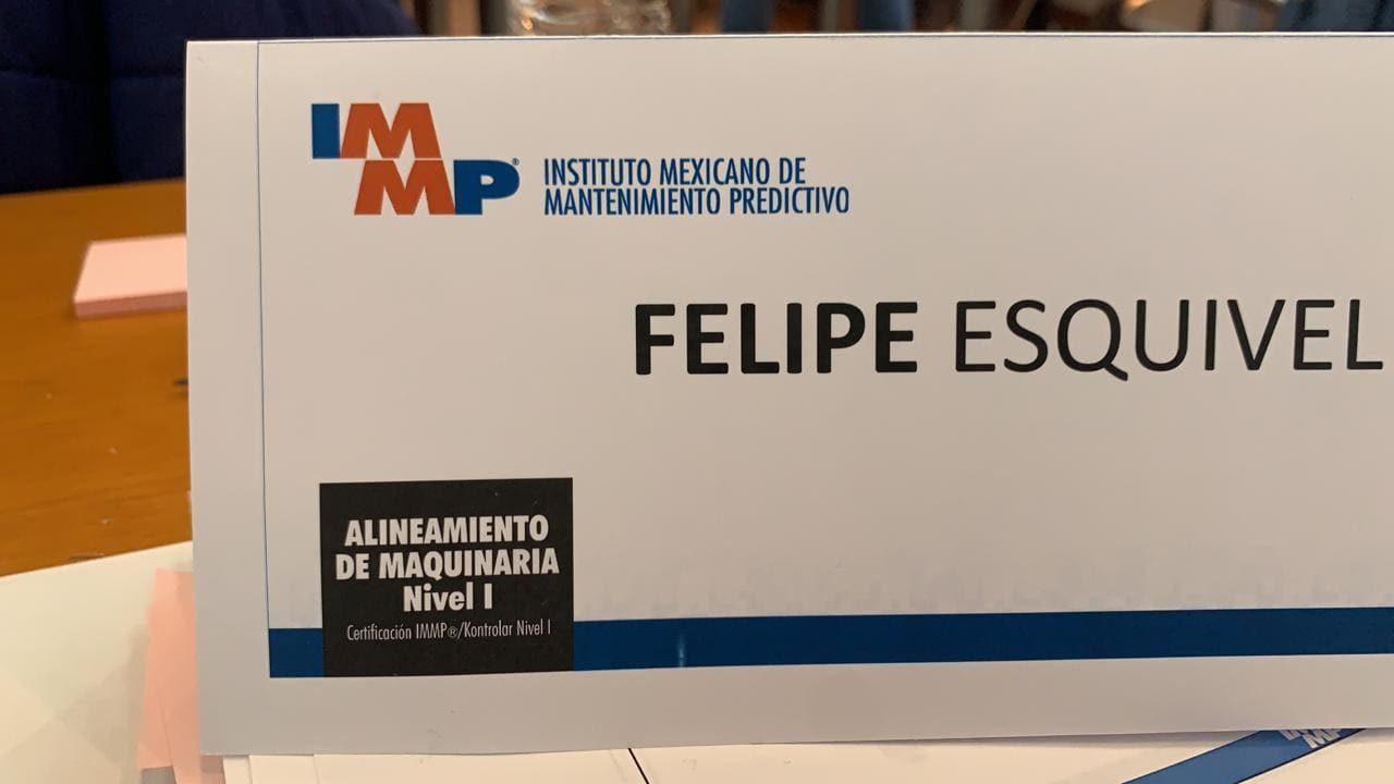 Certificacion en alineamiento de maquinaria IMMP 15